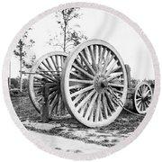 Civil War, Sling Cart, 1865.  Round Beach Towel