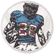 Cj Spiller 1 Round Beach Towel by Jeremiah Colley