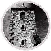 Clackmannan Tollbooth Tower Round Beach Towel