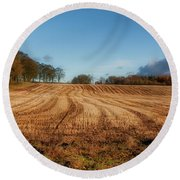 Round Beach Towel featuring the photograph Clackmannanshire Countryside by Jeremy Lavender Photography