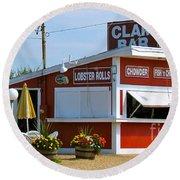 Clam Bar Round Beach Towel