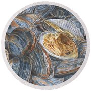 Clams Round Beach Towel
