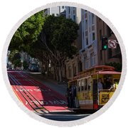 Clang Clang Goes The Cable Car Round Beach Towel