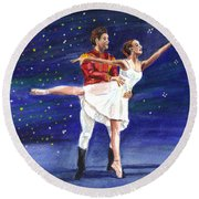Clara's Nutcracker Round Beach Towel