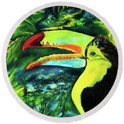 Clara's Toucan Round Beach Towel