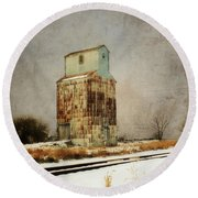 Round Beach Towel featuring the photograph Clare Elevator by Julie Hamilton