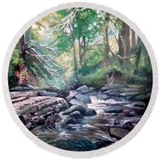 Clare Glens ,co Tipparay Ireland Round Beach Towel