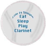 Clarinet Eat Sleep Play Clarinet 5512.02 Round Beach Towel