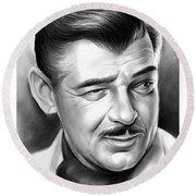 Clark Gable 26aug17 Round Beach Towel