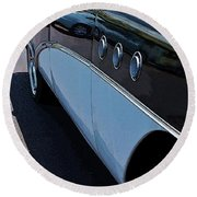Classic 55 Buick Special Round Beach Towel