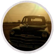 Classic America, Eight Round Beach Towel by Iconic Images Art Gallery David Pucciarelli