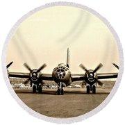 Classic B-29 Bomber Aircraft Round Beach Towel