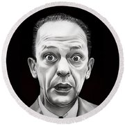 Classic Barney Fife Round Beach Towel by Fred Larucci