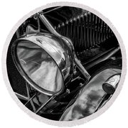 Round Beach Towel featuring the photograph Classic Britsh Mg by Adrian Evans