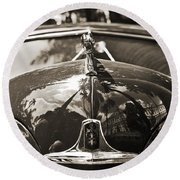 Classic Car Detail - Dodge 1948 Round Beach Towel