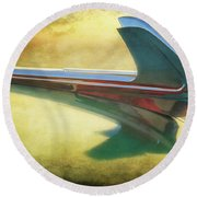 Classic Car Hood Ornament Havana Cuba Round Beach Towel