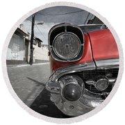 Classic Car - Trinidad - Cuba Round Beach Towel