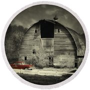 Round Beach Towel featuring the photograph Classic Chevrolet  by Julie Hamilton