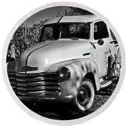Classic Chevy Truck Round Beach Towel by Kirt Tisdale