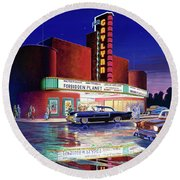 Classic Debut -  The Gaylynn Theatre Round Beach Towel