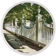 Classic Fence Round Beach Towel by Betsy Zimmerli
