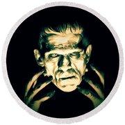Classic Frankenstein Round Beach Towel
