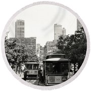 Classic San Francisco Round Beach Towel