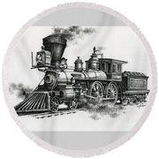 Classic Steam Round Beach Towel by James Williamson