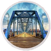 Classic Walnut Street Round Beach Towel