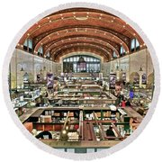 Classic Westside Market Round Beach Towel by Frozen in Time Fine Art Photography