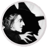Classic Wicked Witch Of The West Round Beach Towel