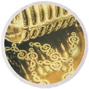 Classical Golden Oldies Round Beach Towel