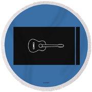 Classical Guitar In Blue Round Beach Towel