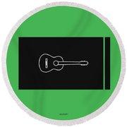 Classical Guitar In Green Round Beach Towel