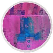Round Beach Towel featuring the digital art Classico - S0307d by Variance Collections