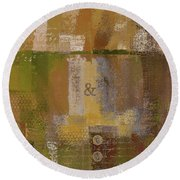 Round Beach Towel featuring the digital art Classico - S0309b by Variance Collections