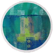 Round Beach Towel featuring the digital art Classico - S03c04 by Variance Collections
