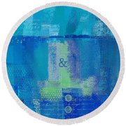 Round Beach Towel featuring the digital art Classico - S03c06 by Variance Collections