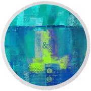 Round Beach Towel featuring the digital art Classico - S03c26 by Variance Collections