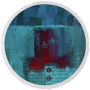 Round Beach Towel featuring the digital art Classico - S03b by Variance Collections