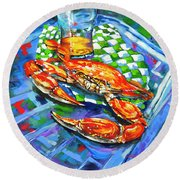 Claw Daddy Round Beach Towel
