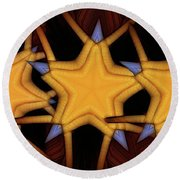 Round Beach Towel featuring the digital art Clawed Stars  by Ron Bissett