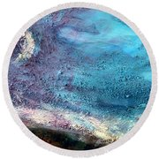 Clay Moon Round Beach Towel