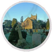 Clear Light In The Graveyard Round Beach Towel