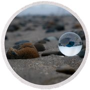 Clear Rock Round Beach Towel