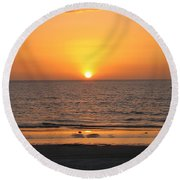 Clear Sunset Round Beach Towel