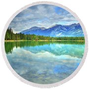 Round Beach Towel featuring the photograph Clear Waters At Lake Annette by Tara Turner
