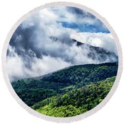 Round Beach Towel featuring the photograph Clearing Storm Highland Scenic Highway by Thomas R Fletcher