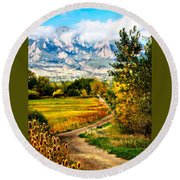Clearly Colorado Round Beach Towel by Marilyn Hunt