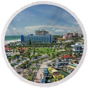 Round Beach Towel featuring the photograph Clearwater Beach Florida by Steven Sparks